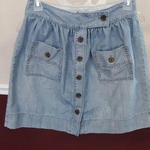 J. CREW Denim Skirt / Button Down / Size 2